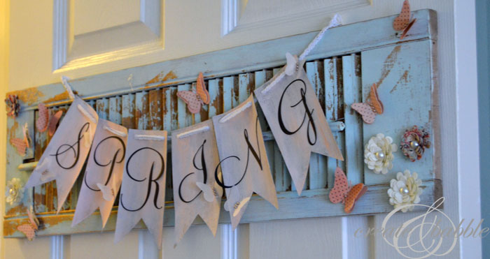 new use for old shabby shutter by createandbabble