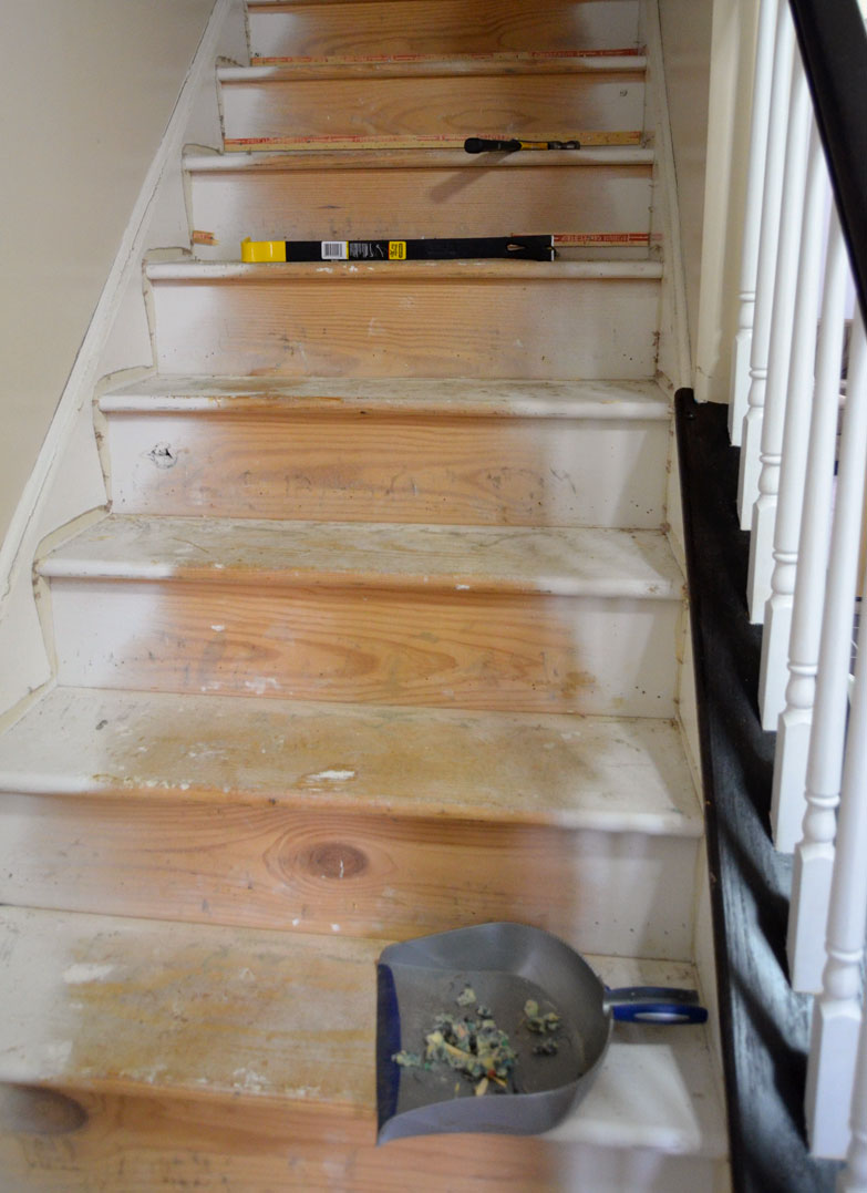 diy staircase makeover by createandbabble