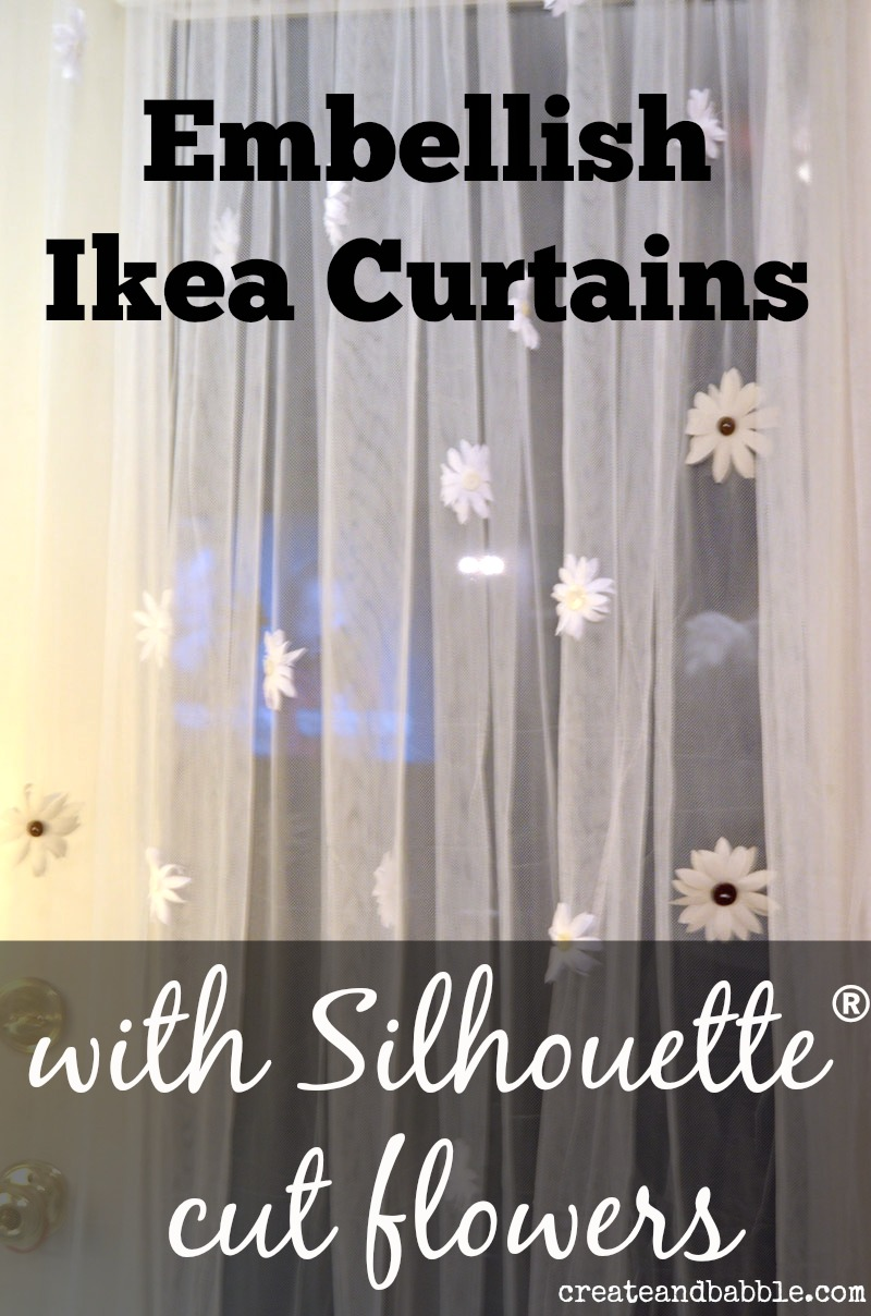 embellish ikea curtains by createandbabble.com