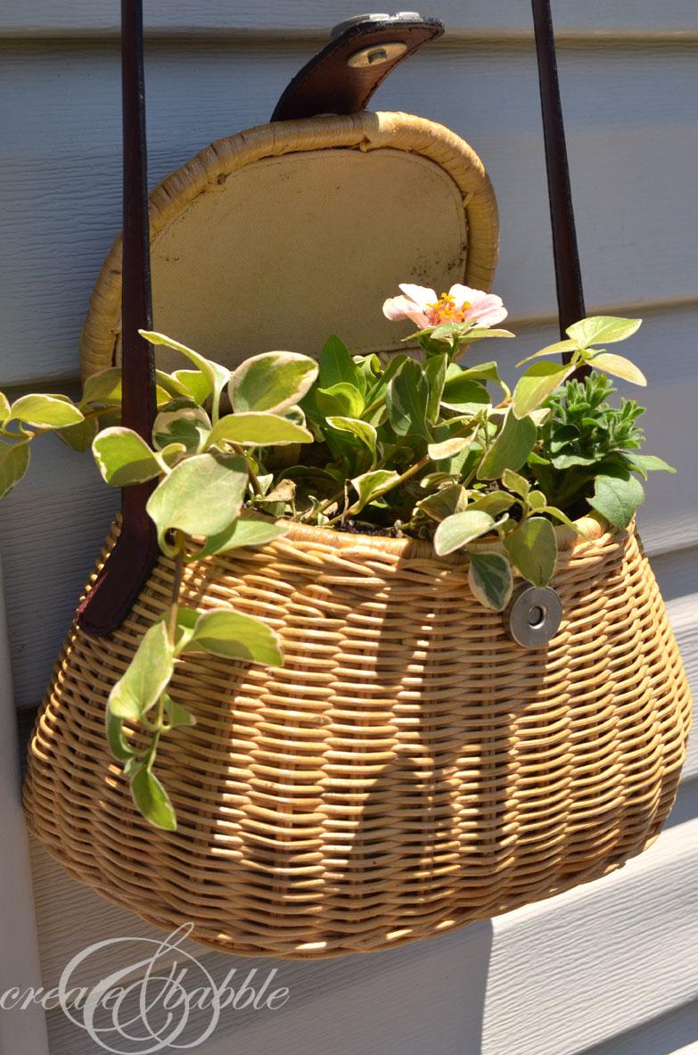purse-turned-planter