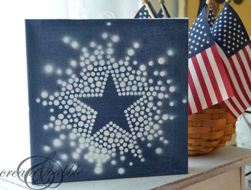 4th of July Star Canvas by createandbabble