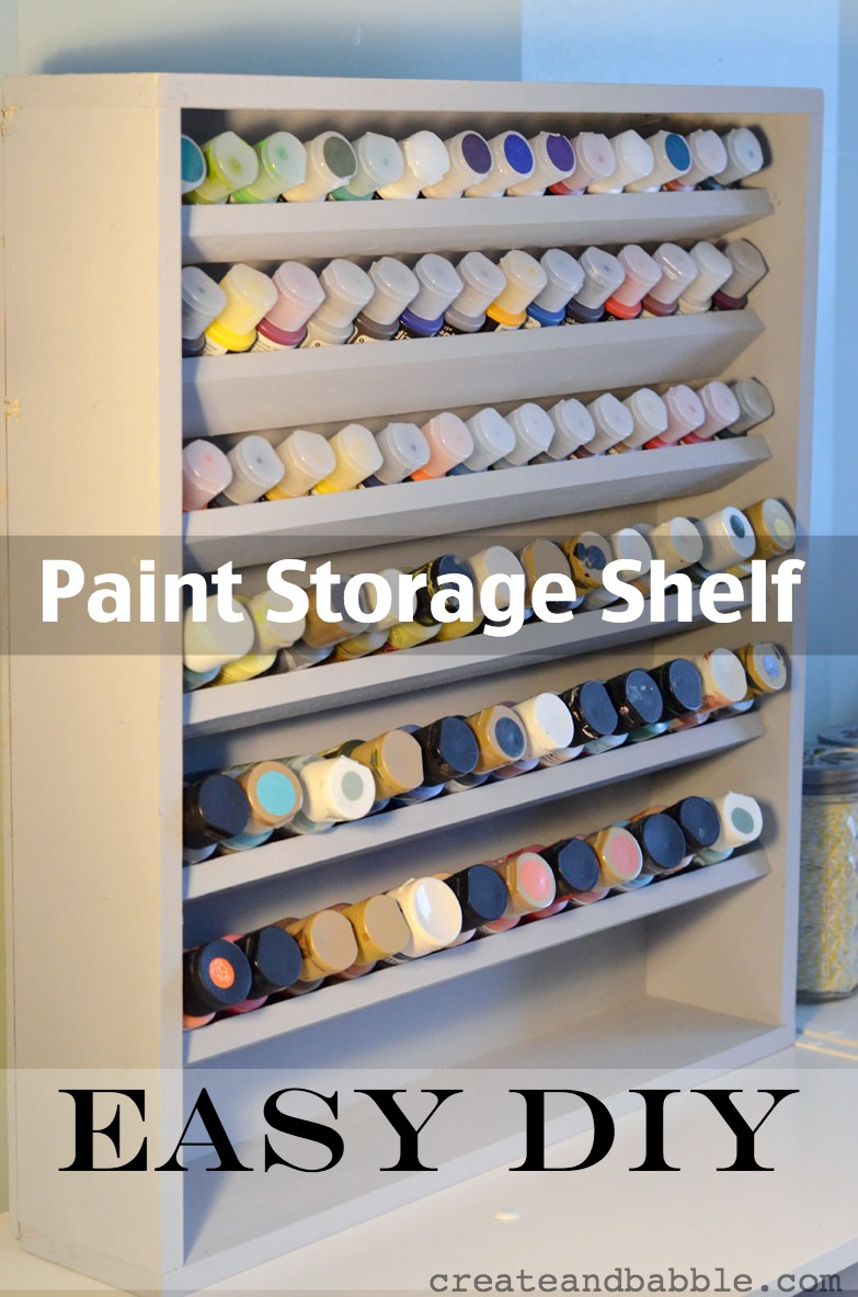 DIY Paint Storage Shelf
