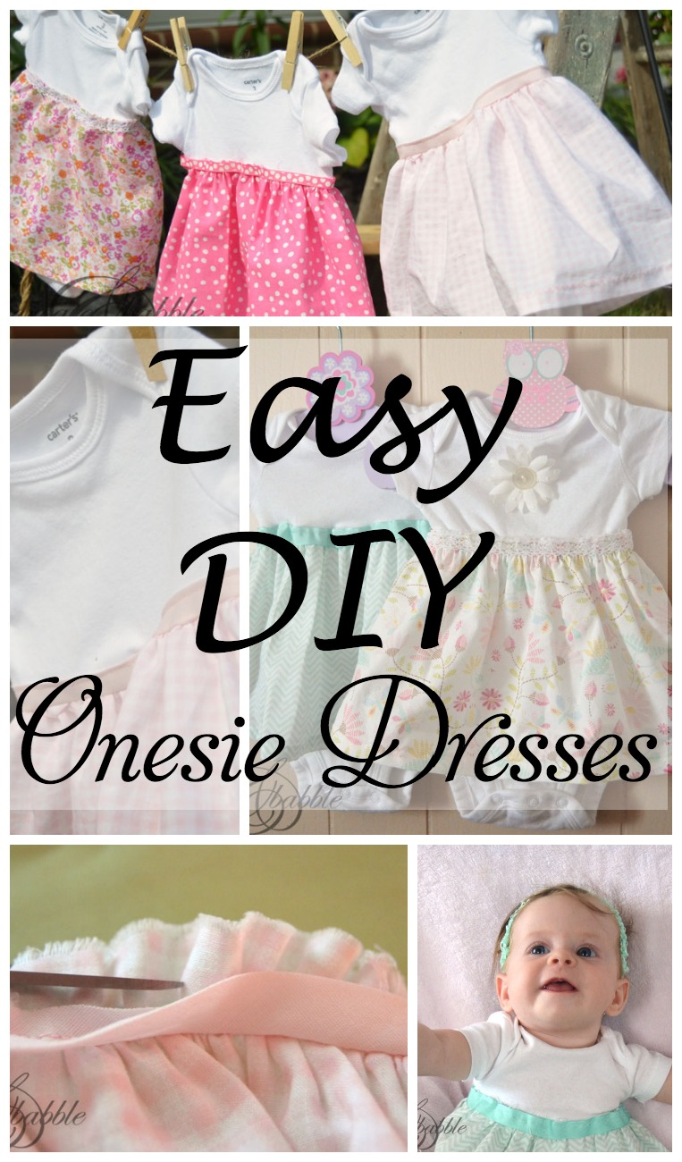 DIY Onesie Dresses - Create and Babble