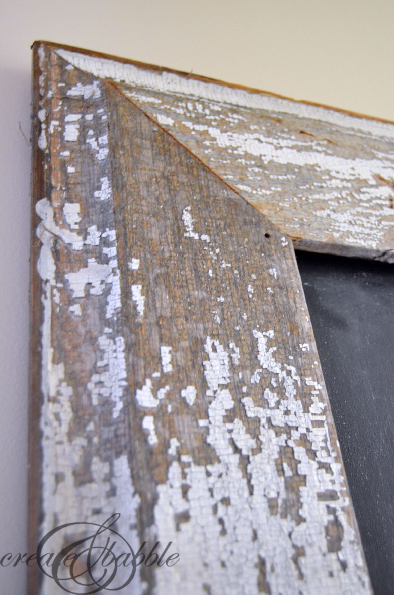 diy salvaged wood chalkboard