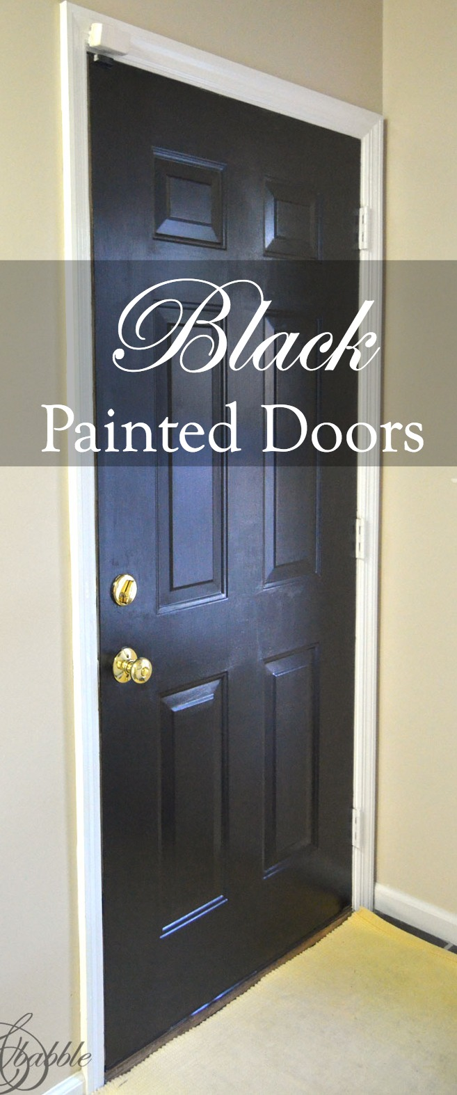 Hallway Doors Painted Black