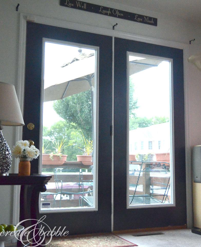 doors painted black-createandbabble.com