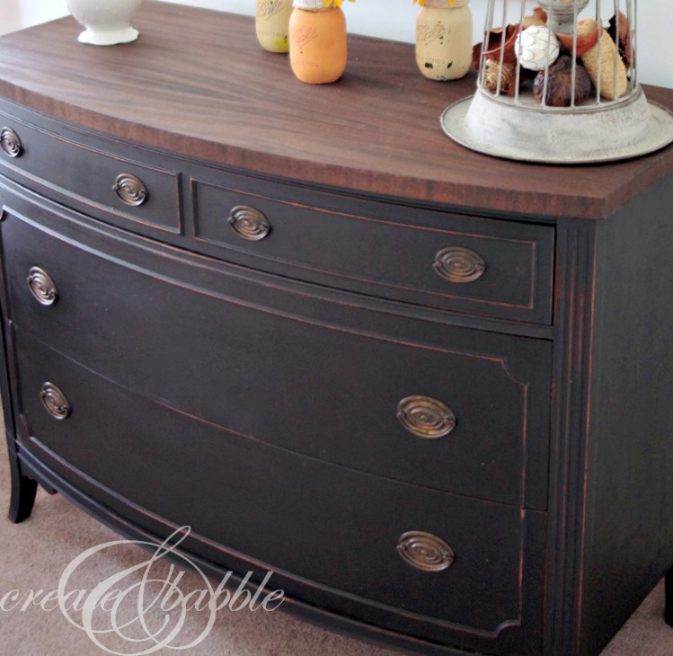 painted dresser with mms milk paint