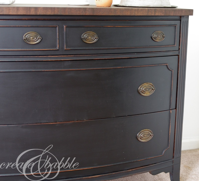 Painted Dresser With Milk Paint