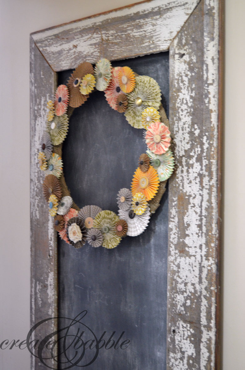 paper-rosette-fall-wreath-createandbabble