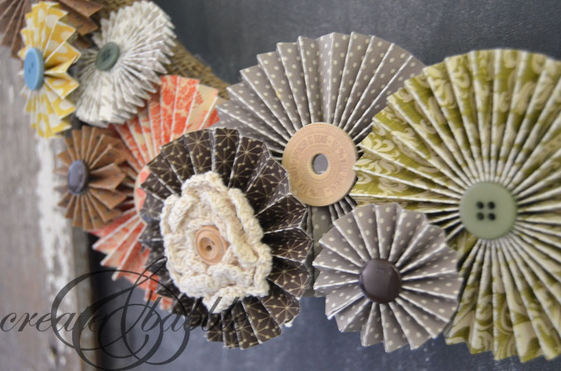 Paper Rosette Fall Wreath