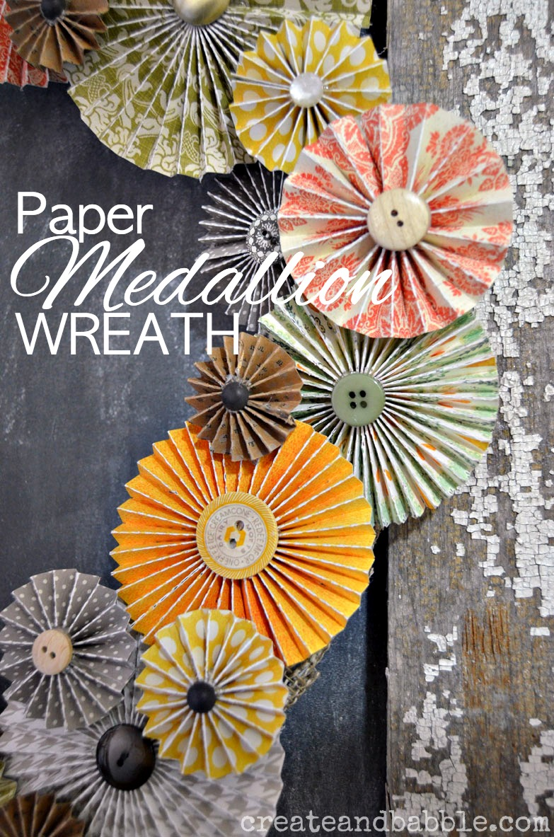 Paper Medallion Wreath - createandbabble.com