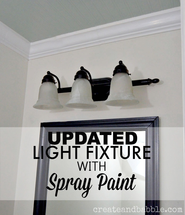 Easy Light Fixture Makeover