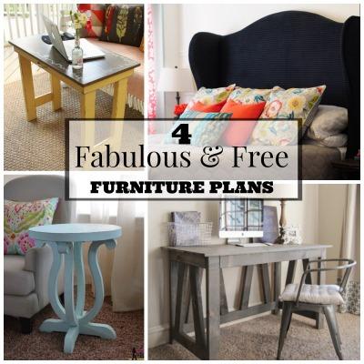 Four Fabulous & Free Furniture Building Plans