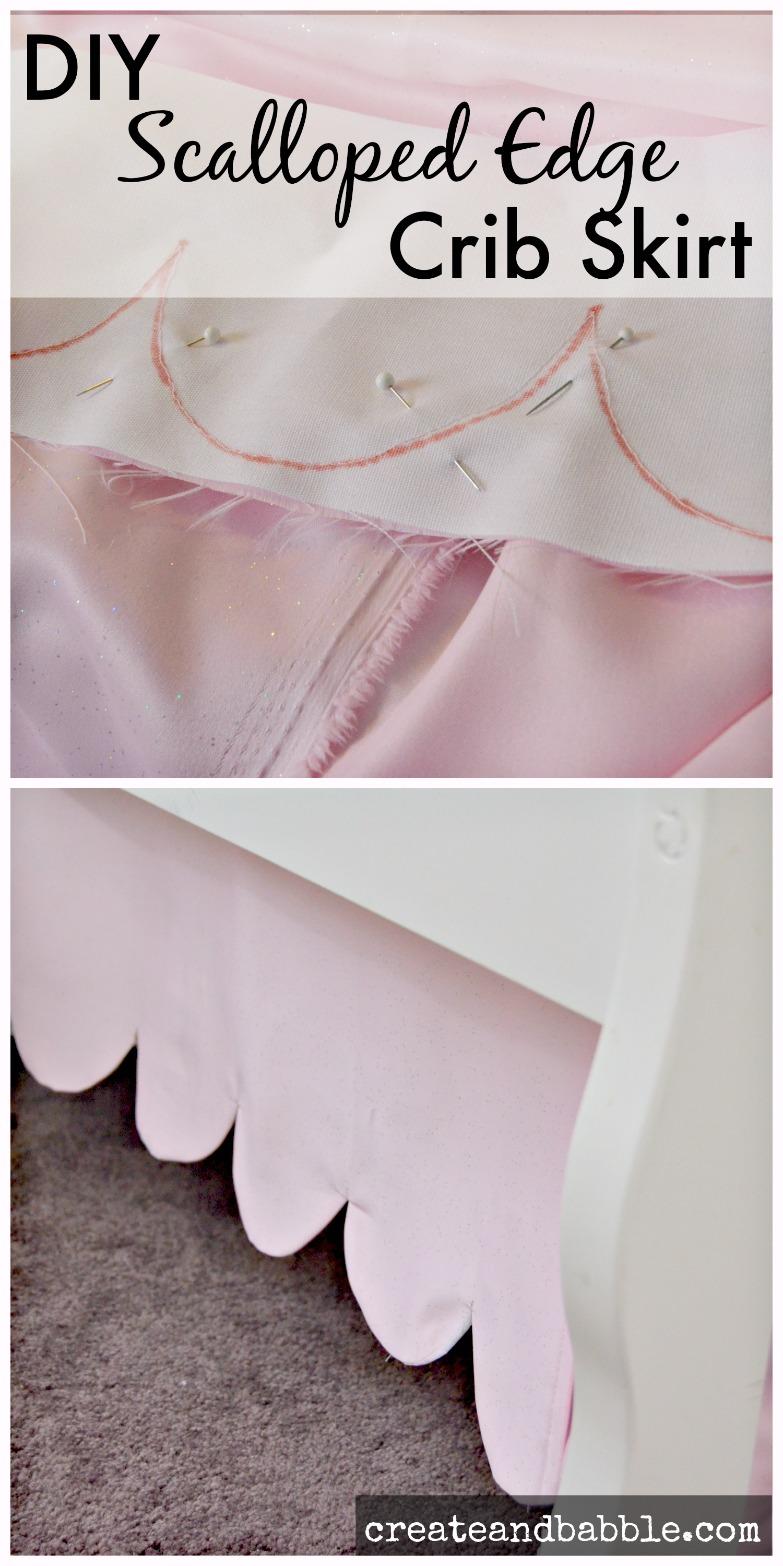 DIY Scalloped Edge Crib Skirt