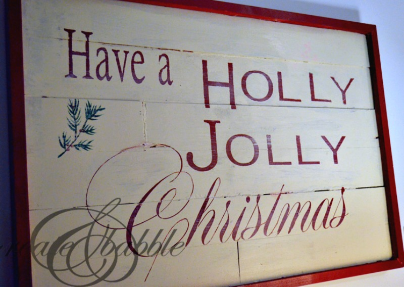 PB Inspired Christmas Wall Art