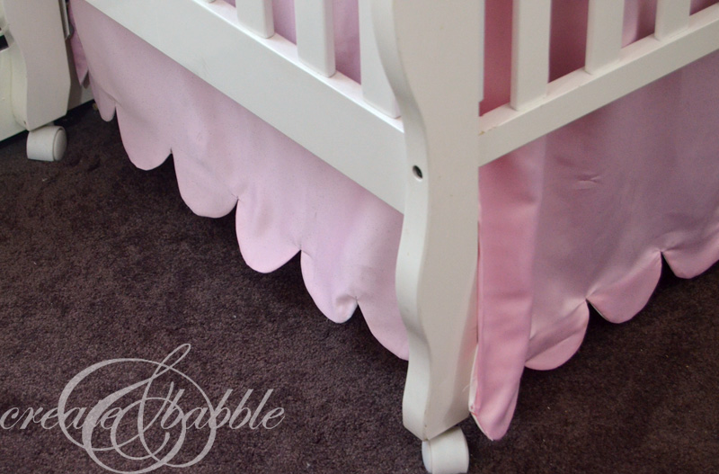 How to Make a Scalloped Edge Crib Skirt