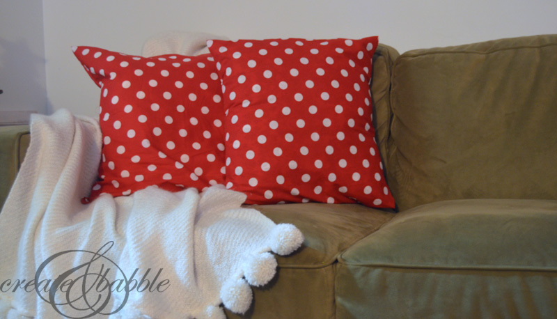Easy Sew Christmas Pillow Cover