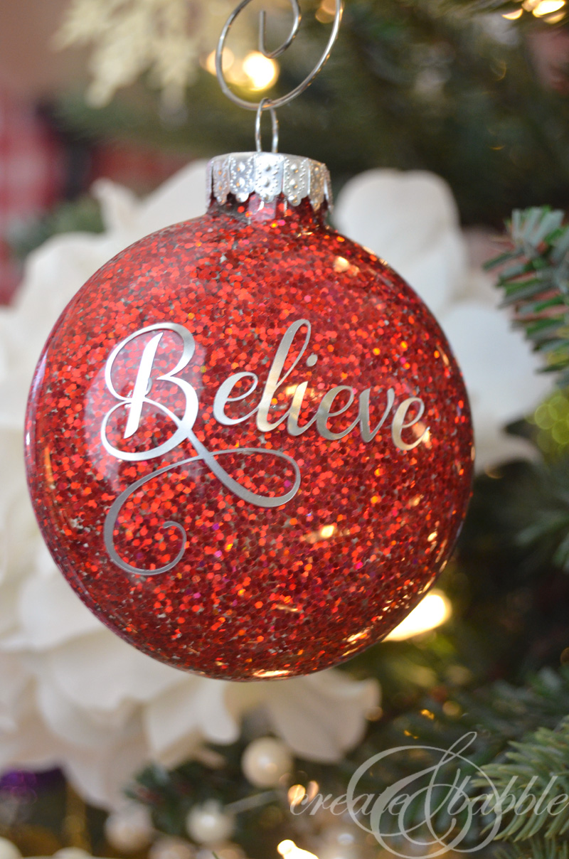 DIY Glitter Christmas Ornaments - Create and Babble