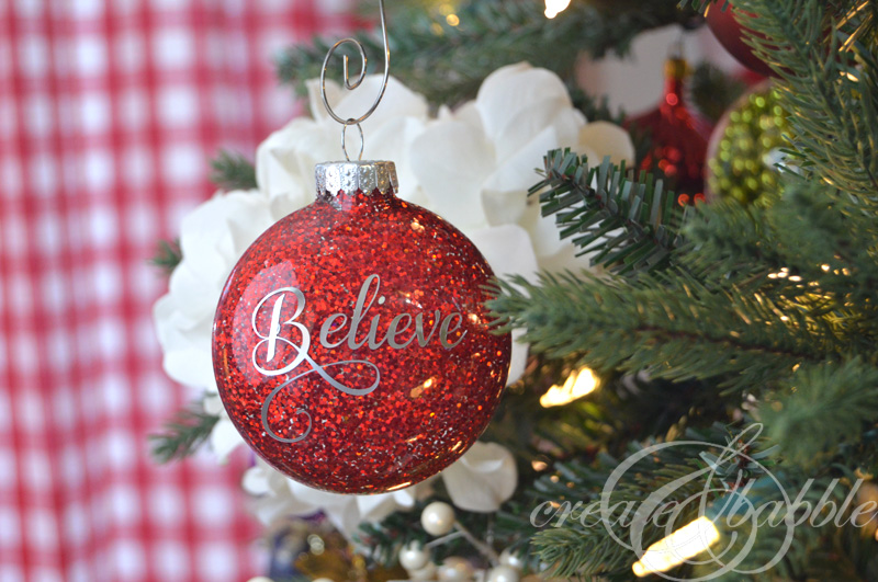 Diy glitter christmas ornaments create and babble solutioingenieria Image collections