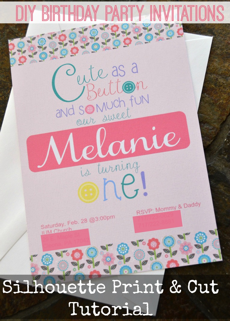 Print & Cut Birthday Invitations - Create and Babble