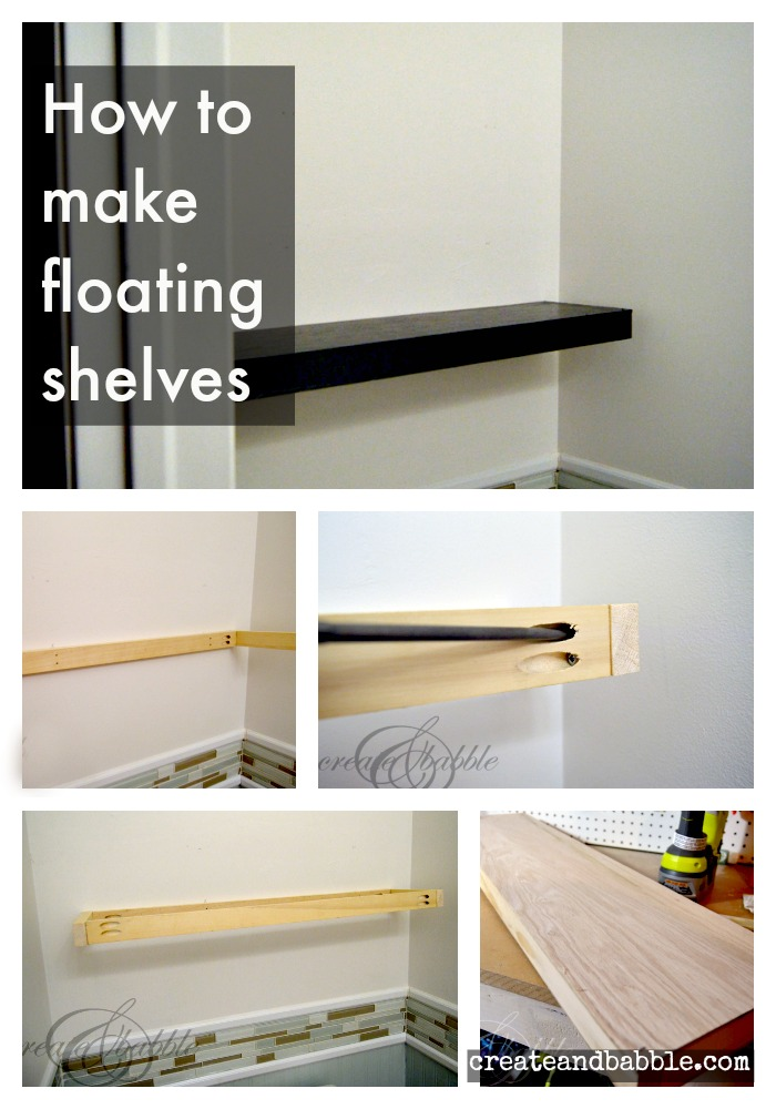how to make floating shelves create and babble. Black Bedroom Furniture Sets. Home Design Ideas