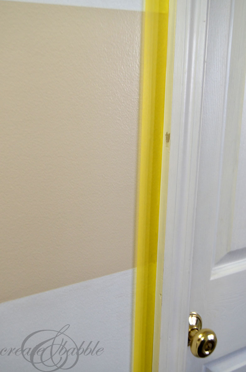 Easy Painted Stripes - Create and Babble