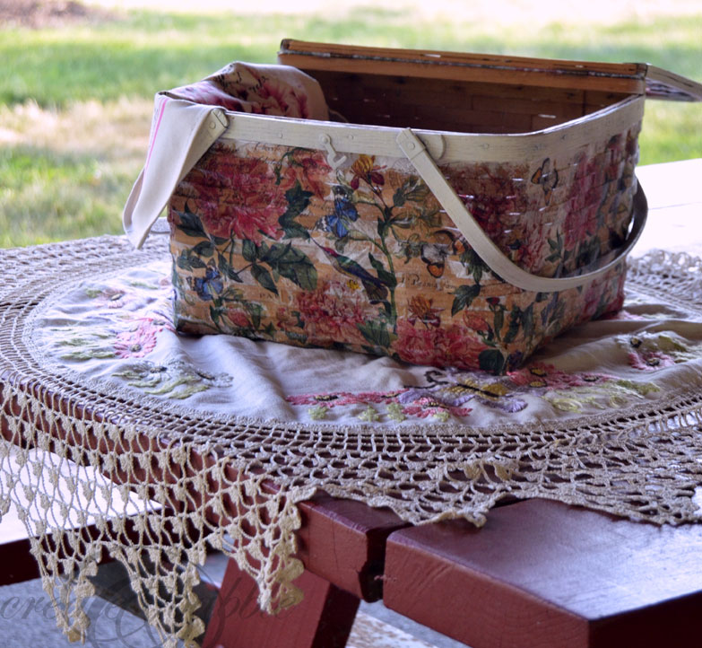 picnic basket makeover