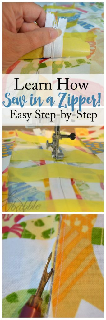 learn how to sew in a zipper