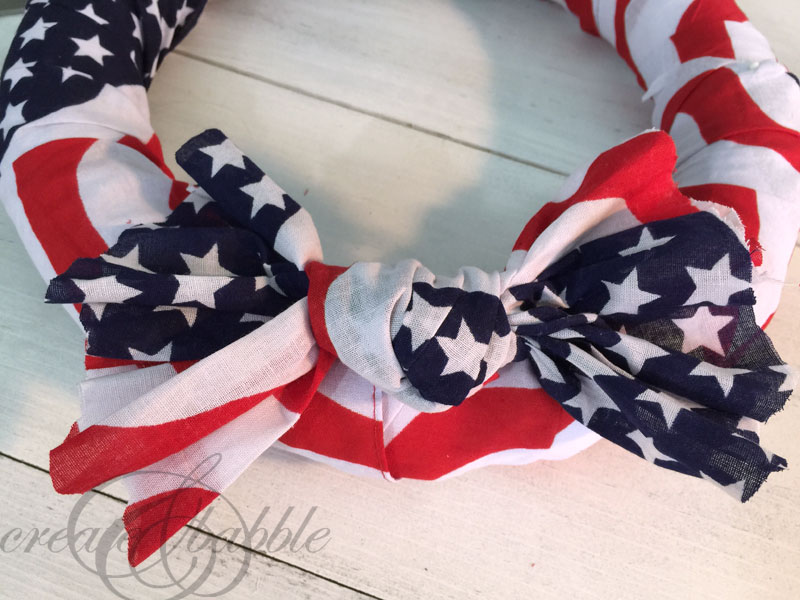Quick and Easy Patriotic Wreath