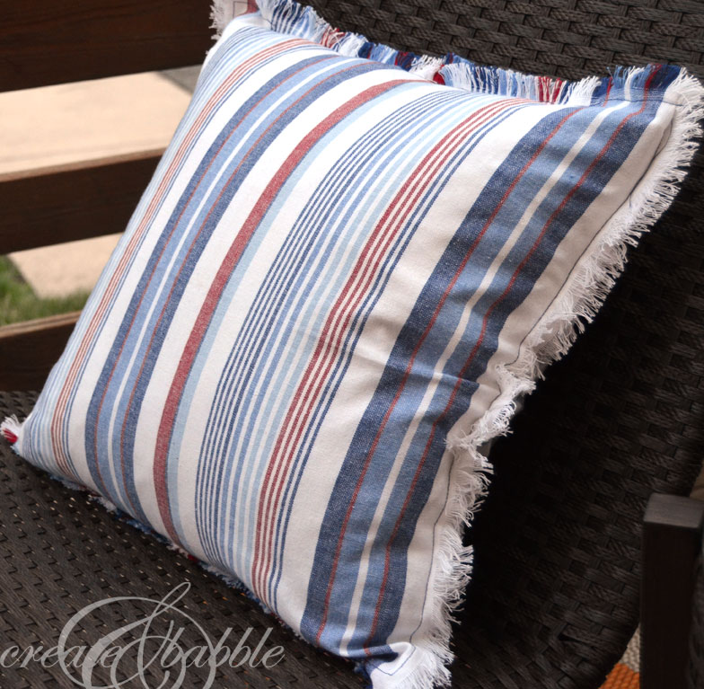 easy sew 5 minute pillow