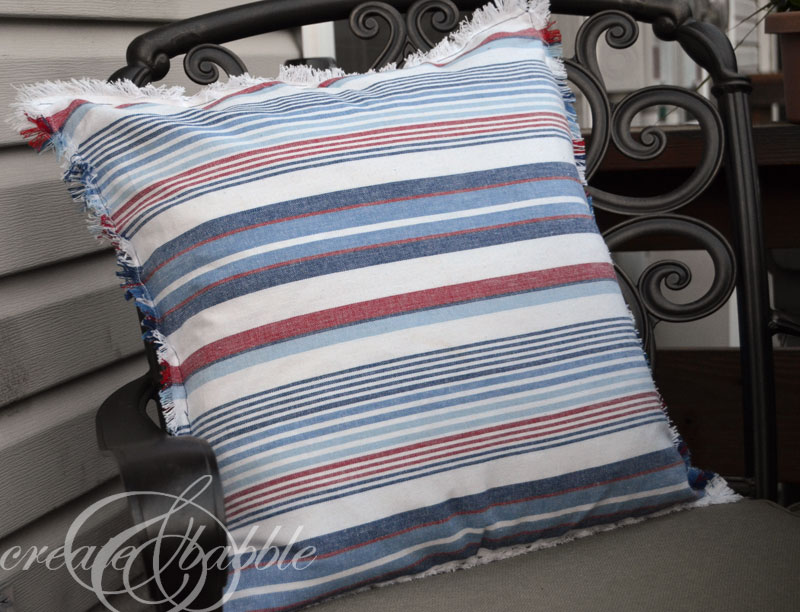 Easy and Fast $5 Patriotic Pillows