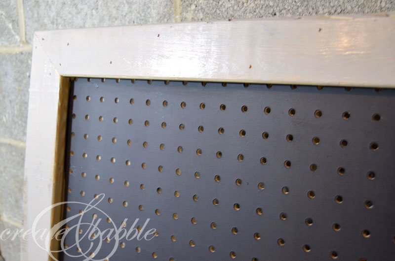Diy Pretty Framed Pegboard Part 2 Create And Babble