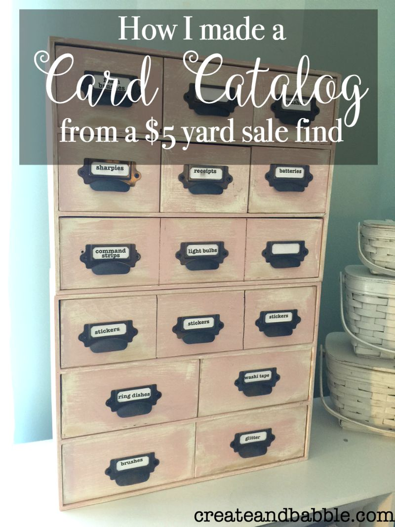 Card Catalog from a $5 Yard Sale Find