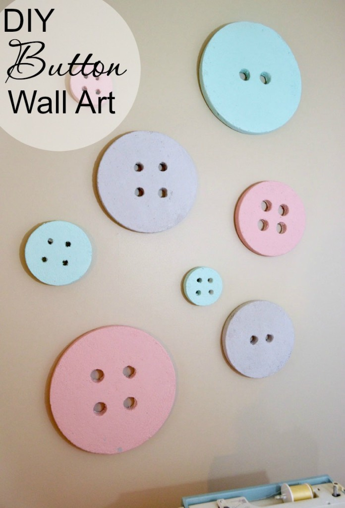Diy button wall art for a sewing craft room create and for Diy room decor ideas you never thought of