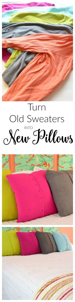 Make Old Sweaters into New Pillows-createandbabble.com