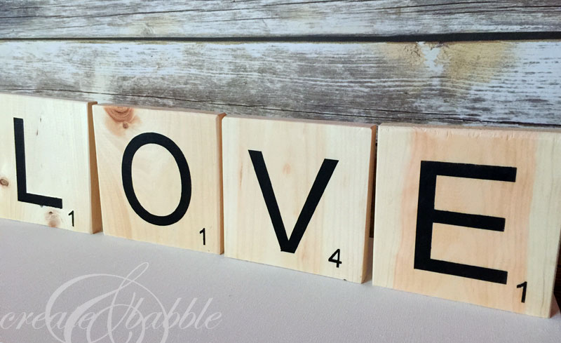 DIY Love Letter Scrabble Tiles