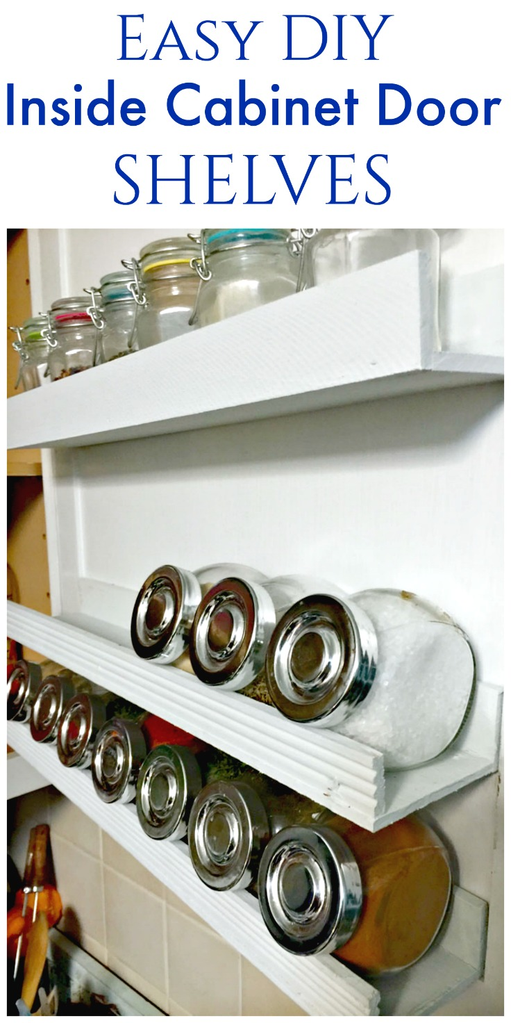 DIY Inside Cabinet Door Shelf - Create and Babble