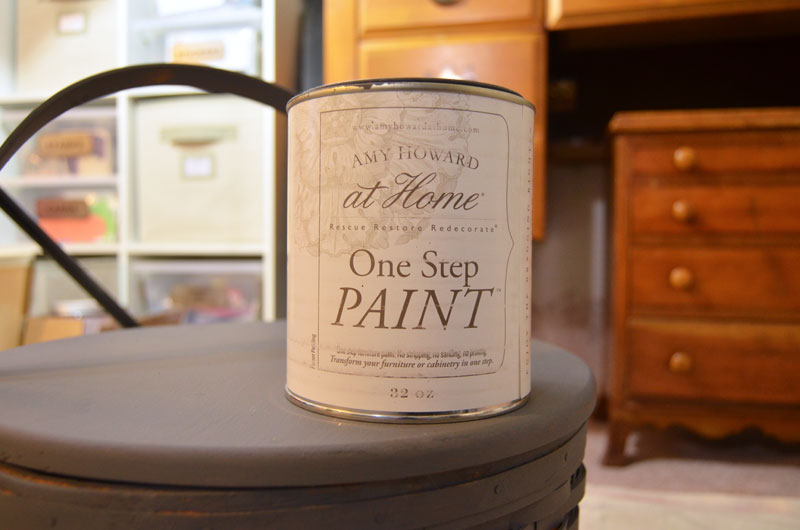 insructions on how to update a Basket using paint and liming wax