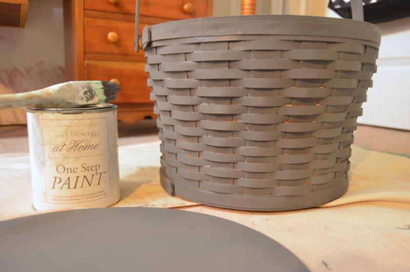 How to Antique a Basket Using Paint and Liming Wax