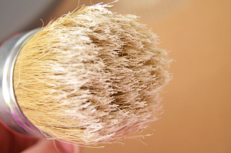 How to load a waxing brush with liming wax