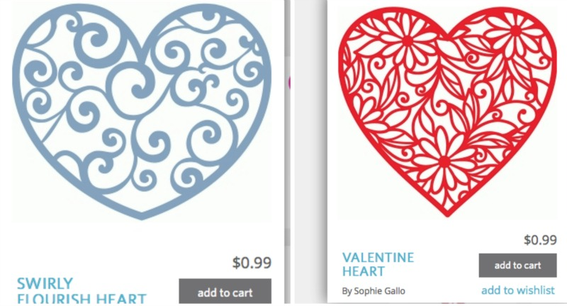 hearts from Silhouette online store