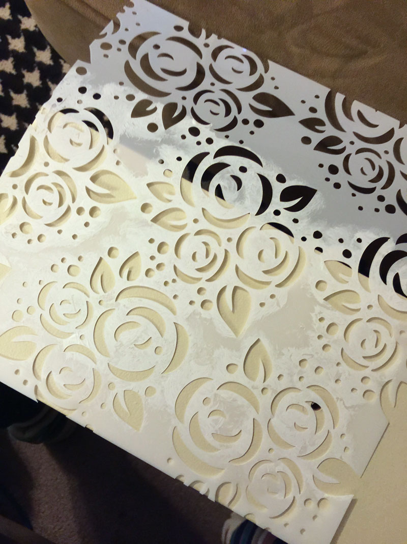 Roses stencil made with Silhouette Cameo®