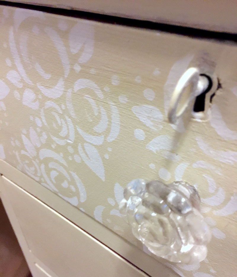 Stenciled Drawer Fronts