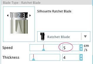 Silhouette® Heat Transfer Tip of slowing down the cutting speed