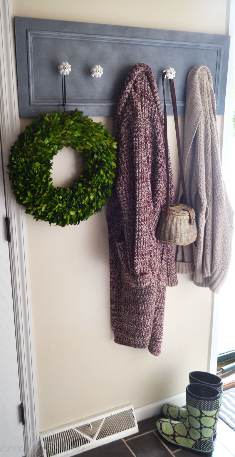 How to repurpose a Cupboard Door into Coat Rack