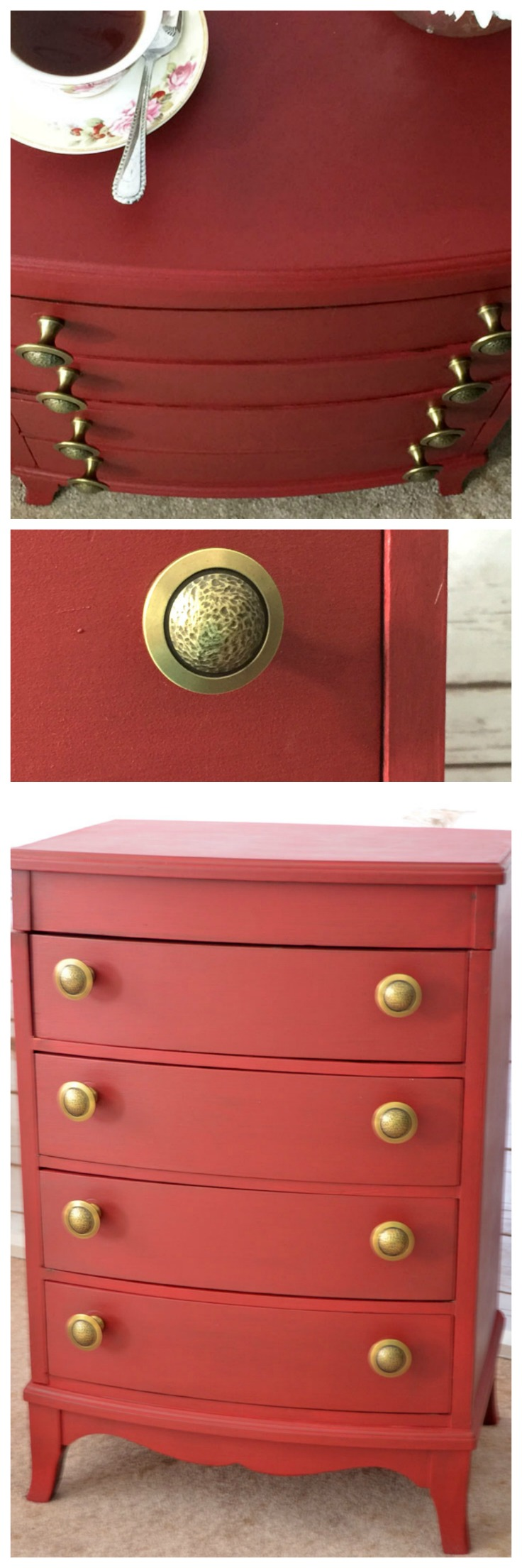 Red Painted Chest Heres How To Give A New Bold Look To An Old