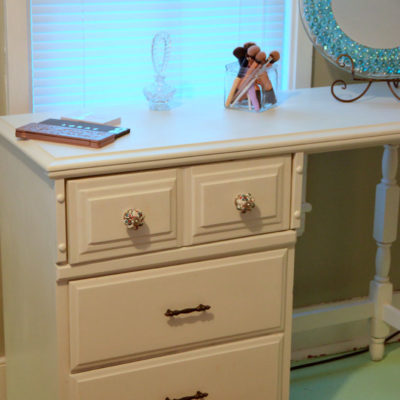 Upcycle an Old Desk Into a Vanity