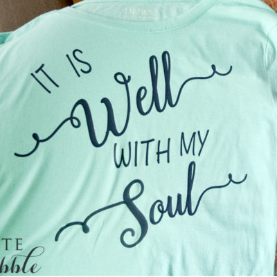 DIY It Is Well With My Soul T-shirt Design. Learn how to make your own t-shirt design in Silhouette Studio.