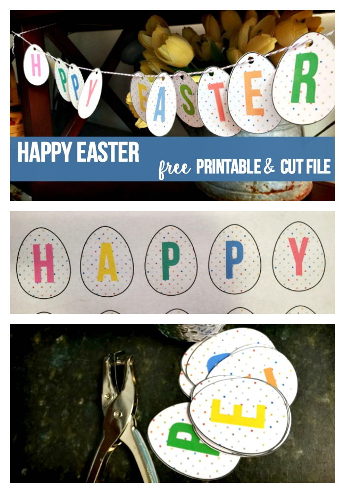 Last minute Easter decoration. Print out this cute Happy Easter Printable