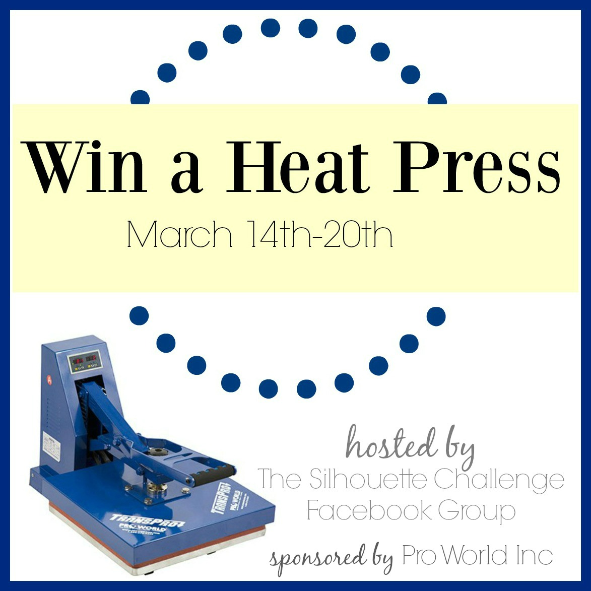 Win A Heat Press